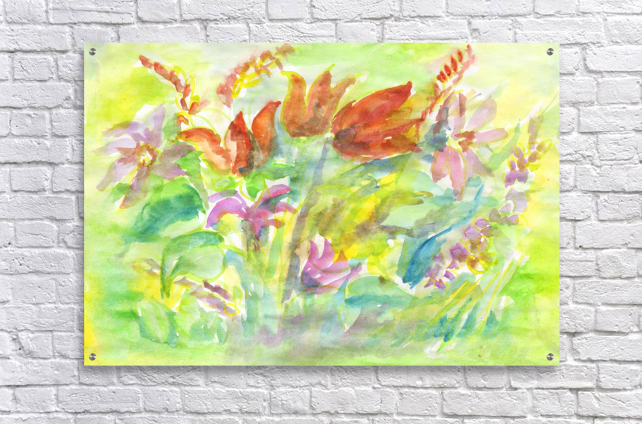 Flowers in the sunny meadow  Acrylic Print