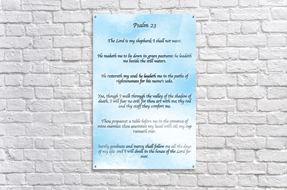Psalm 23 Clouds  Acrylic Print