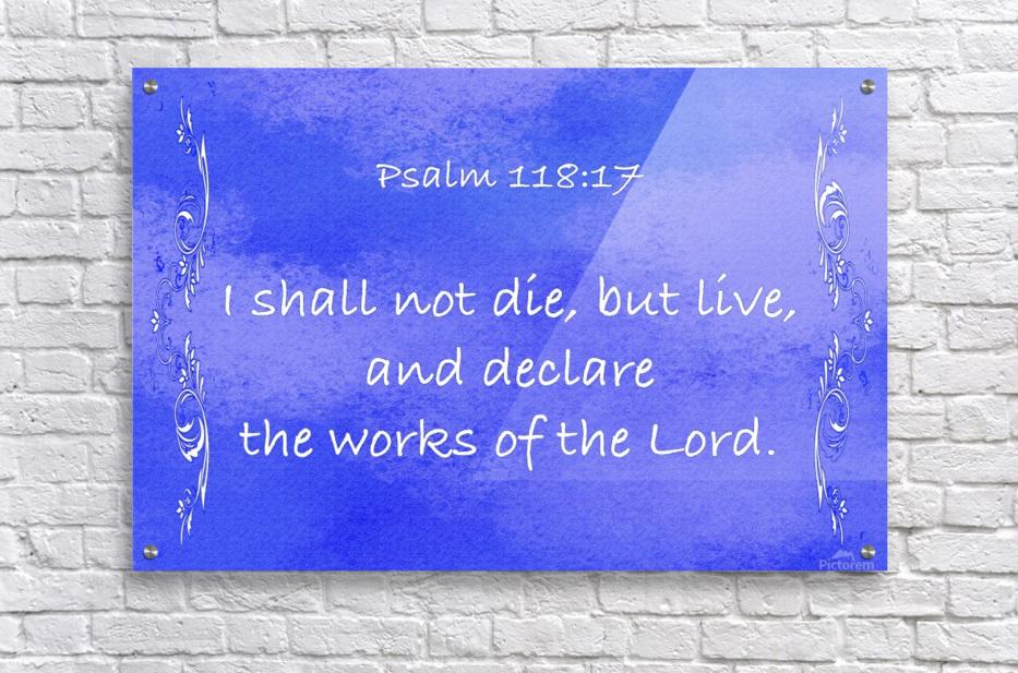 Psalm 118 17 4BL  Acrylic Print