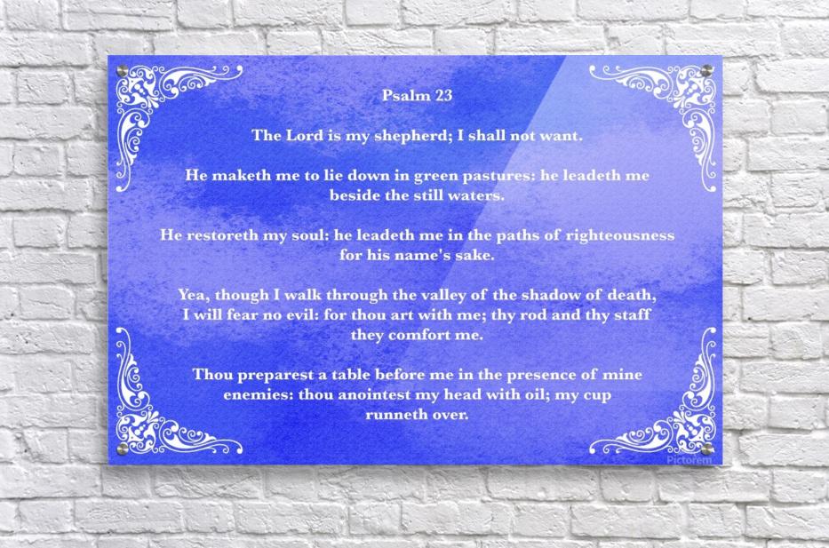 Psalm 23 5BL_1547777682.49  Acrylic Print