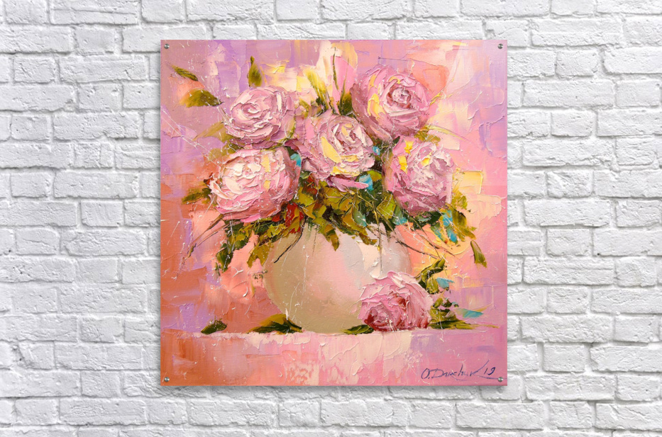 A bouquet of delicate roses  Acrylic Print