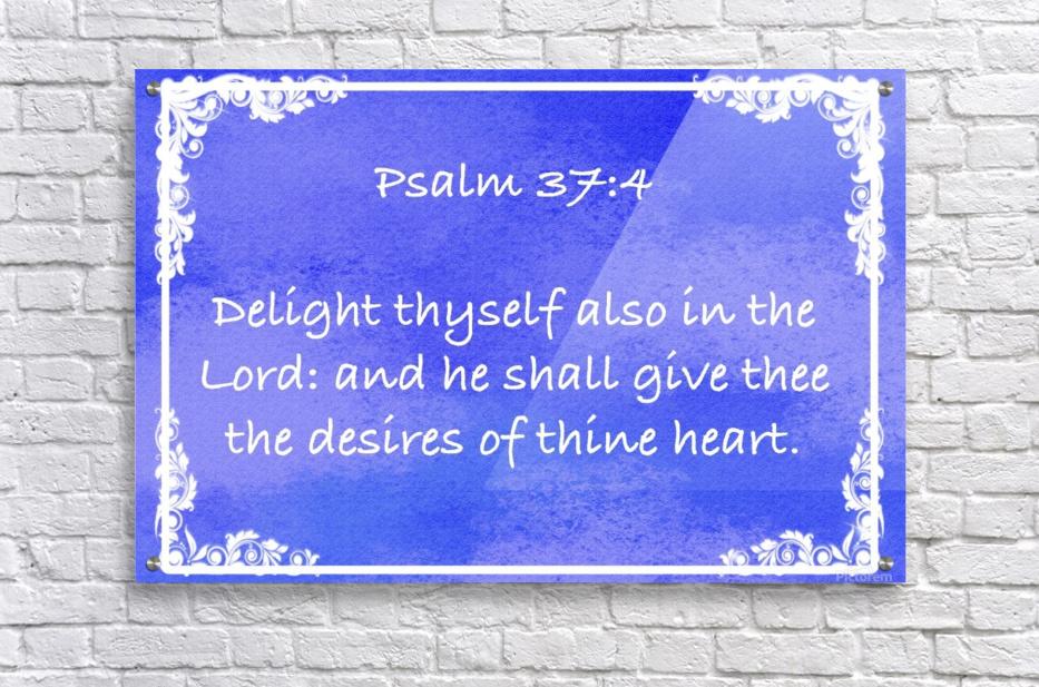 Psalm 37 4 8BL  Acrylic Print