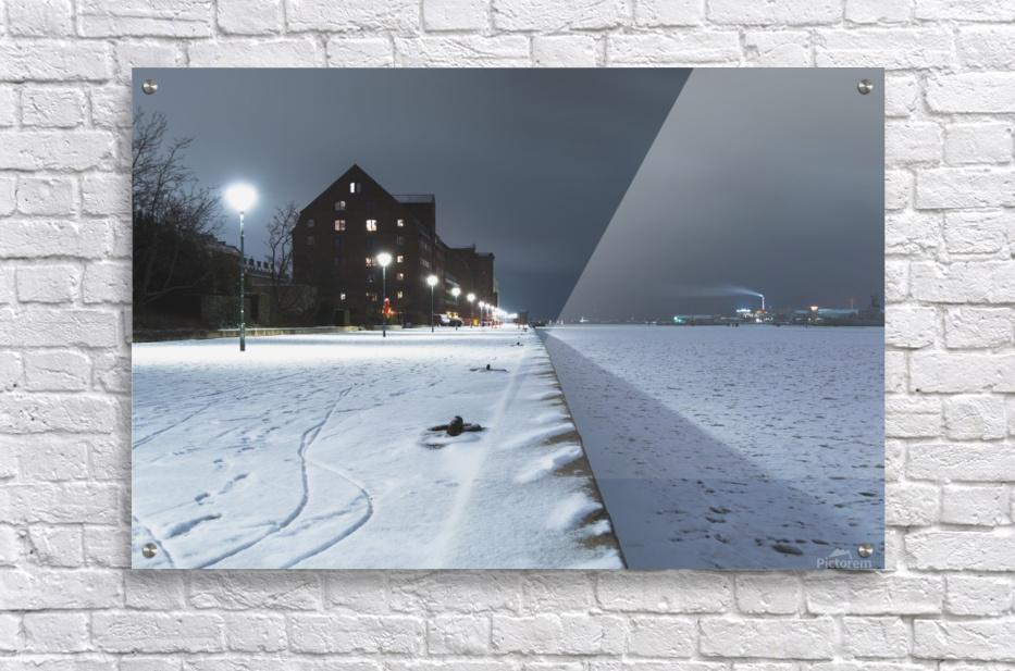 Forzen canal in Copenhagen  Acrylic Print