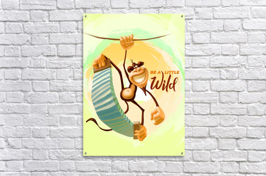 Be a little wild Monkey  Acrylic Print