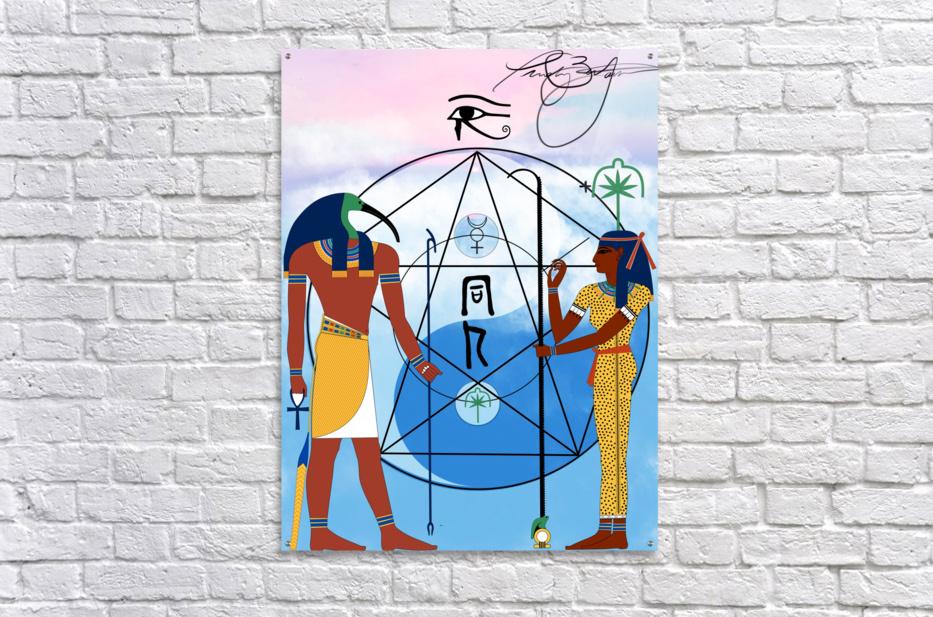 Egyptian Yin and Yang   Acrylic Print