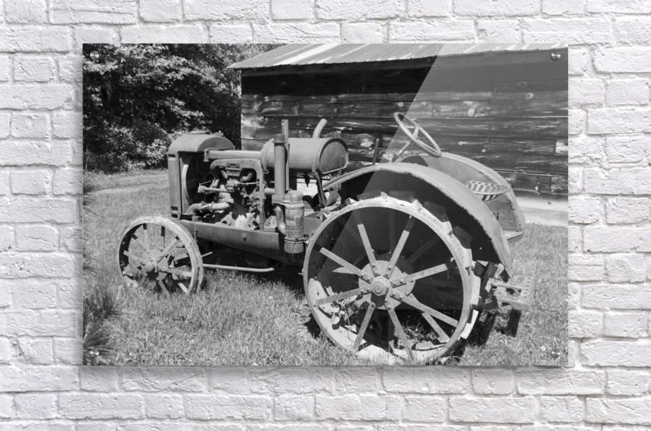 McCormick-Deering gasoline tractor 2 B&W  Acrylic Print