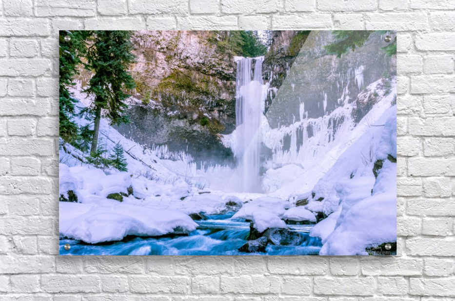 Semi frozen falls  Acrylic Print
