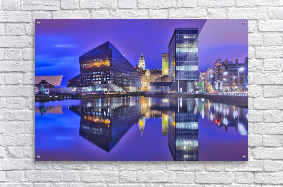 LIV 004 Dock Reflections_1549590972.26  Acrylic Print