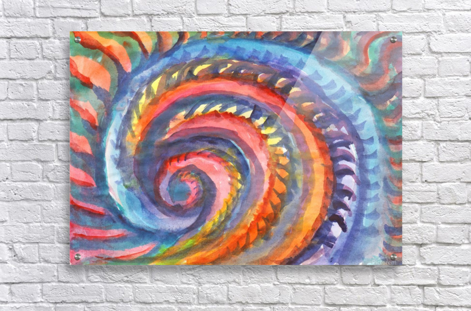 Watercolor abstract spiral staircase  Acrylic Print