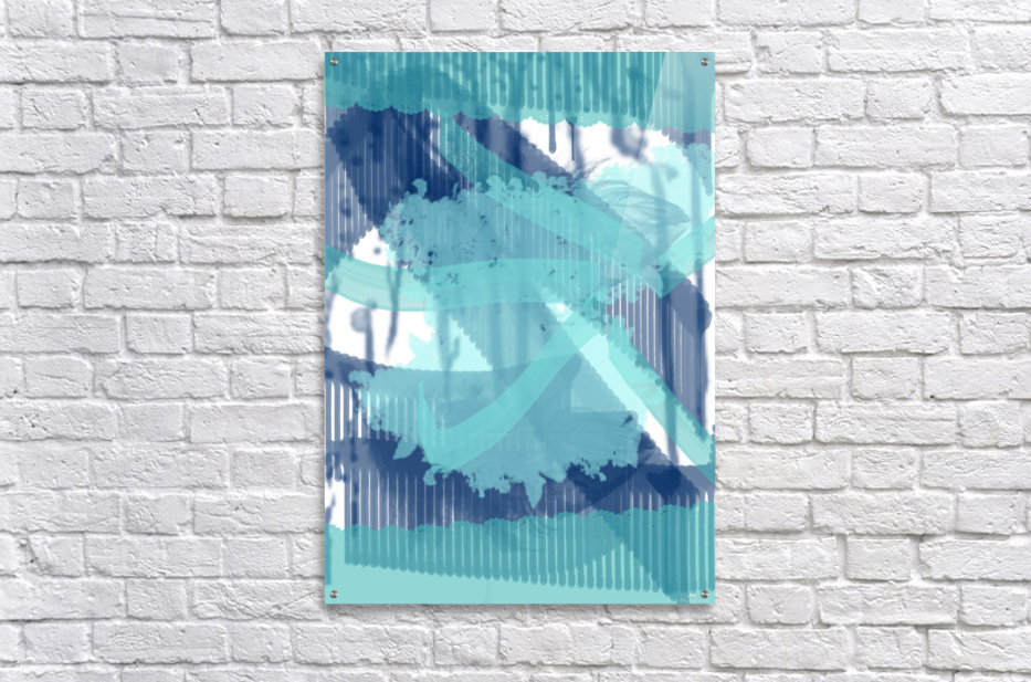WATERCOLOR_BLUE ABSTRACKT  Acrylic Print
