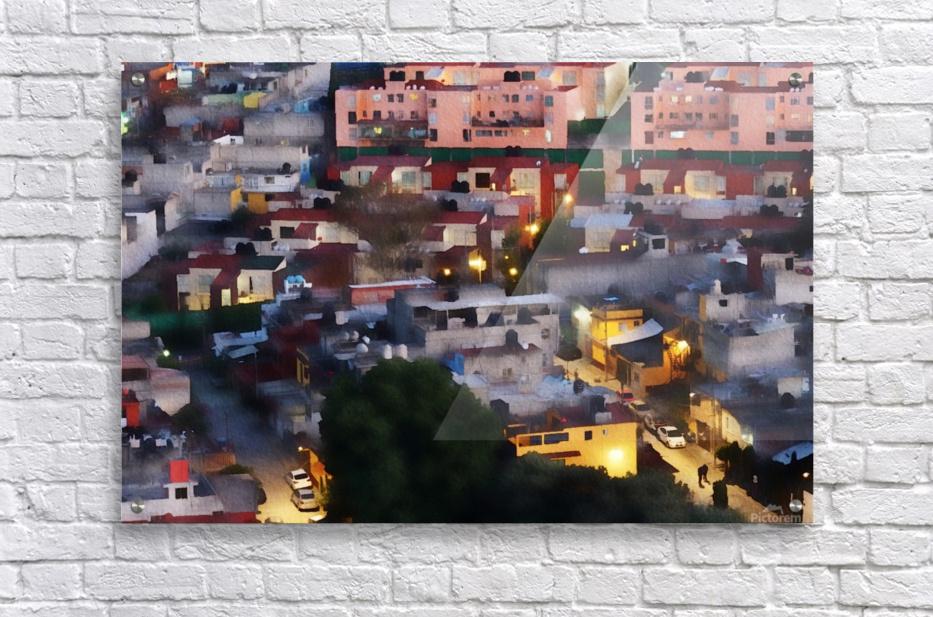 Town rendering  Acrylic Print