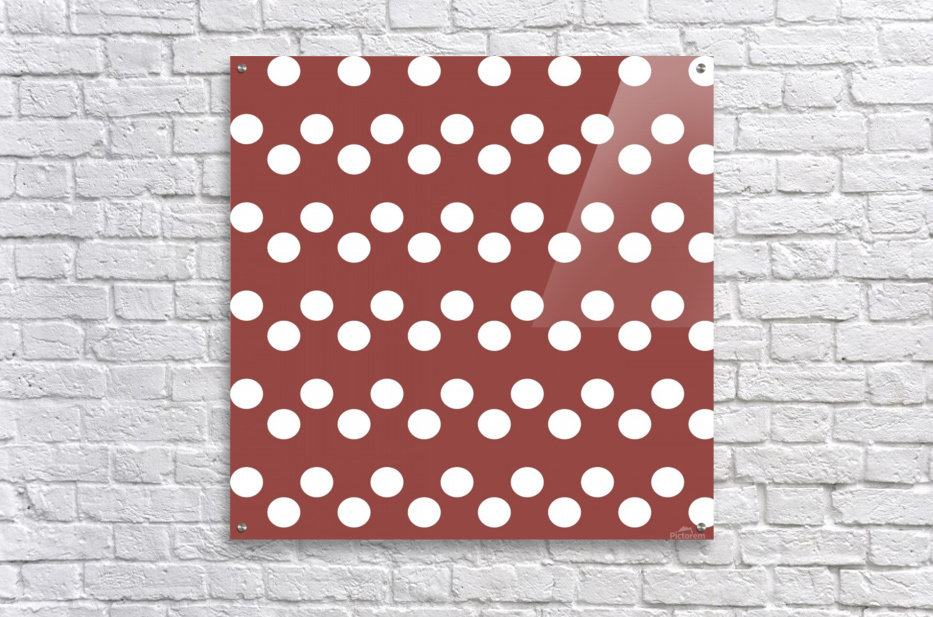 Chili Oil Polka Dots  Acrylic Print