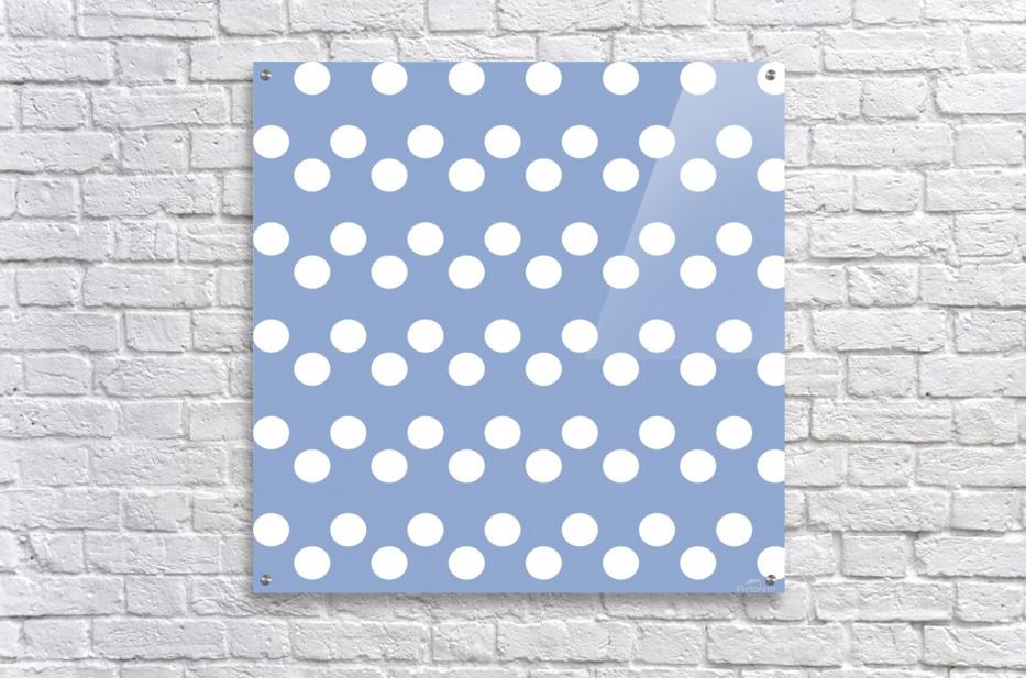 Serenity Polka Dots  Acrylic Print