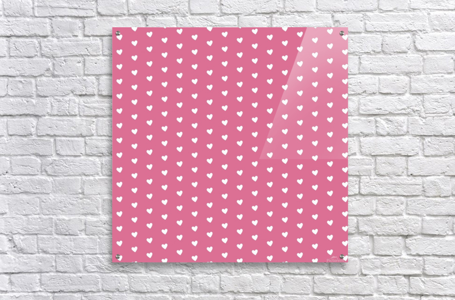Pale Violet Red Heart Shape Pattern  Acrylic Print