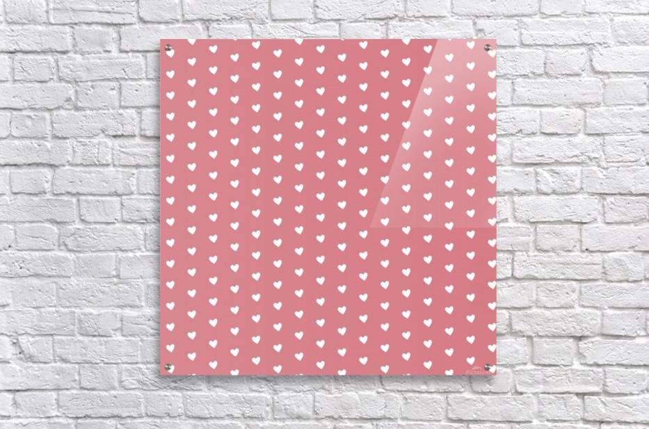 Light Red Heart Shape Pattern  Acrylic Print