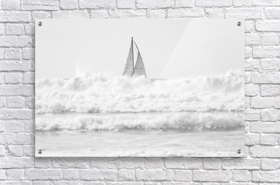 SAILING IN THE SURF  Acrylic Print