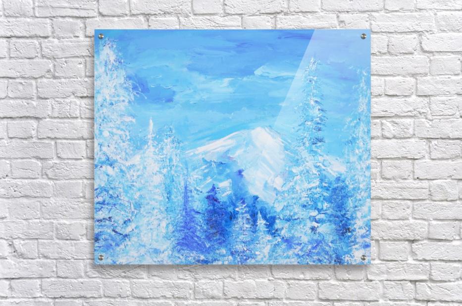 Monochromatic Blue Rocky Mountains  Acrylic Print