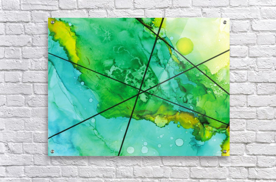 Green under the Lines  Acrylic Print