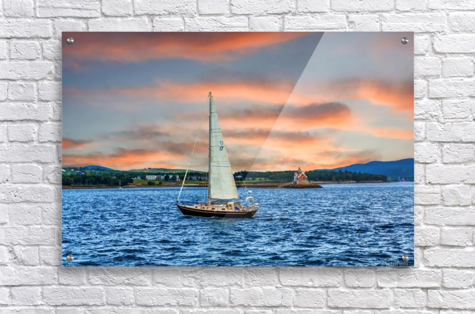 Sailboat and Lighthouse  Acrylic Print