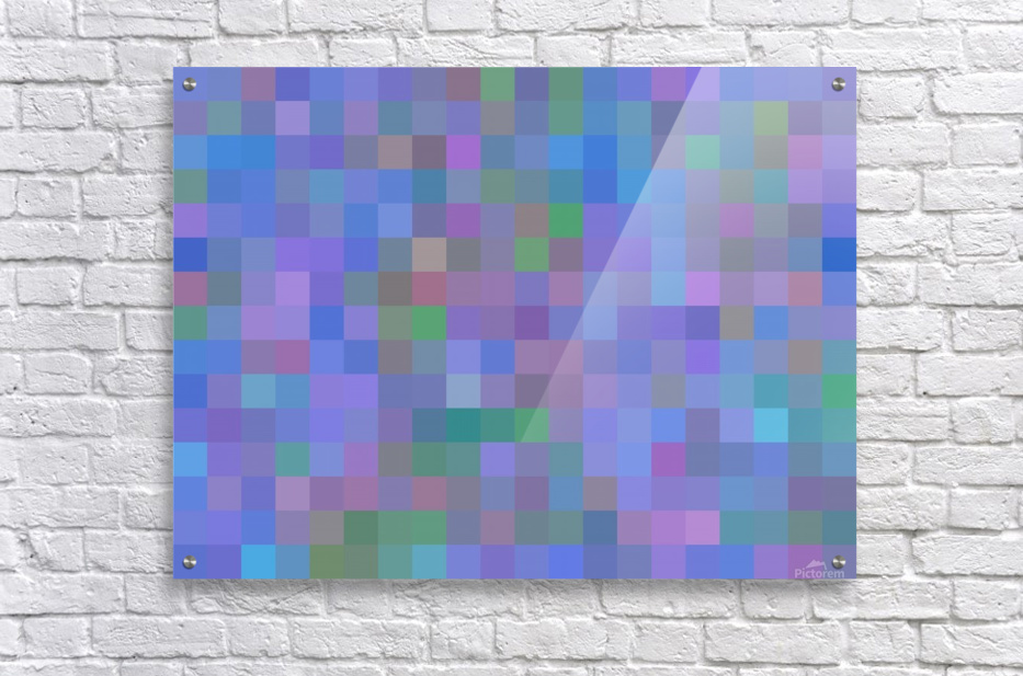 geometric square pixel pattern abstract in purple blue pink  Acrylic Print