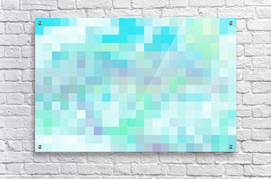 Abstract Pixel Picture -Ocean shades   Acrylic Print