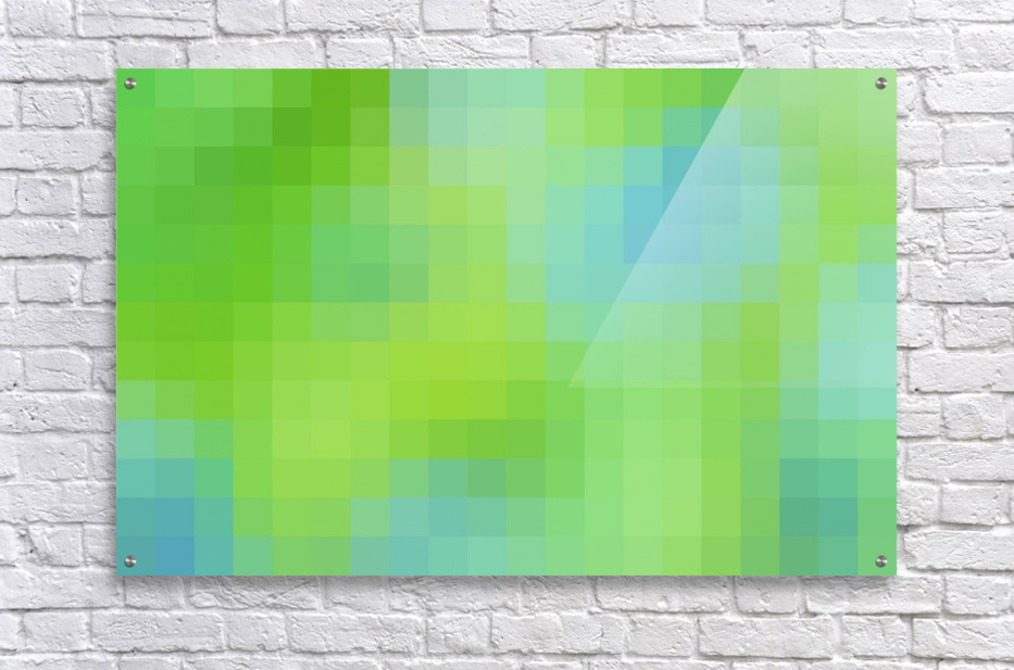 Abstract Pixel Art - blue and green 2  Acrylic Print
