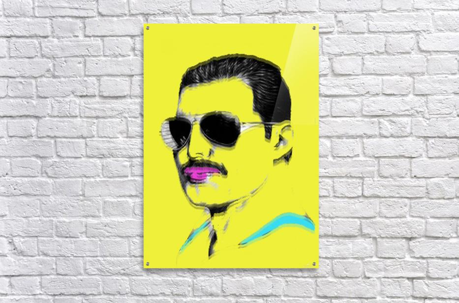 Yellow Freddie Mercury  Acrylic Print