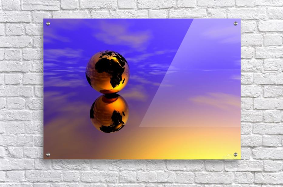 Golden Earth  Acrylic Print
