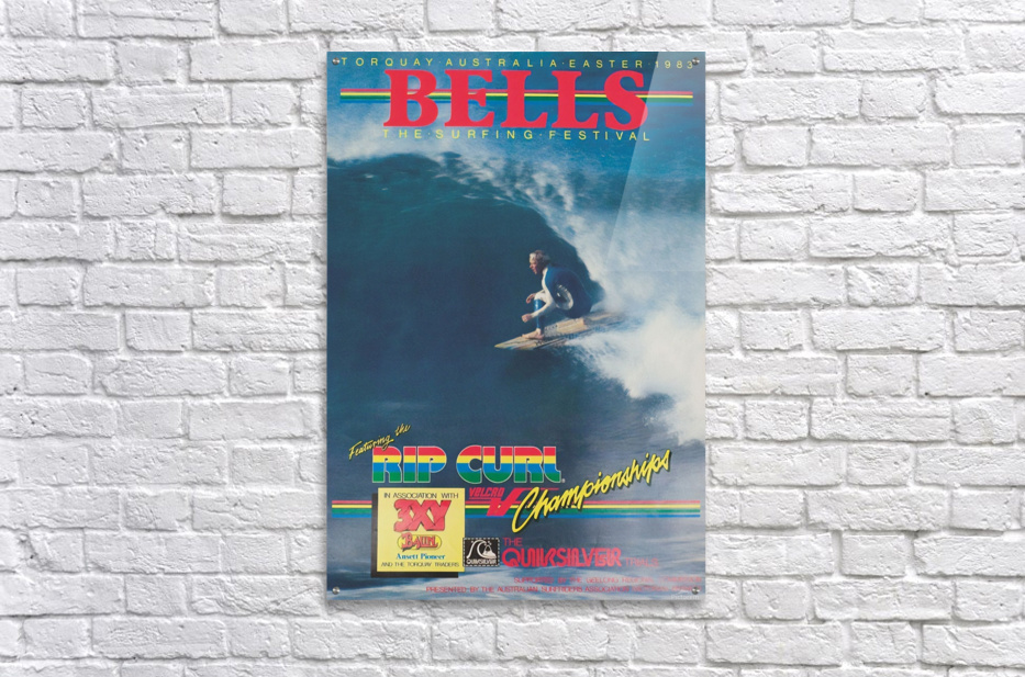 1983 RIP CURL BELLS BEACH EASTER Surfing Championship Competition Print - Surfing Poster  Acrylic Print