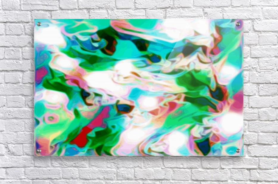 Waterfall - multicolor abstract swirl wall art  Acrylic Print
