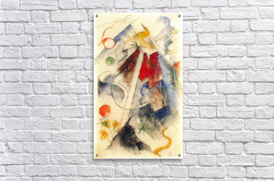 Sketch of the Brenner road -1- by Franz Marc  Acrylic Print