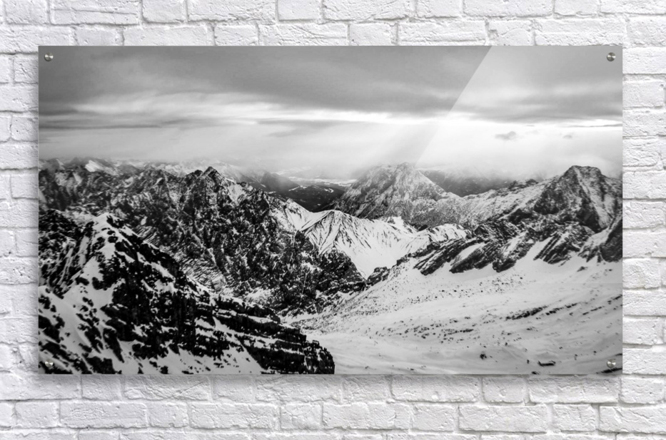 Zugspitze in black and white  Acrylic Print