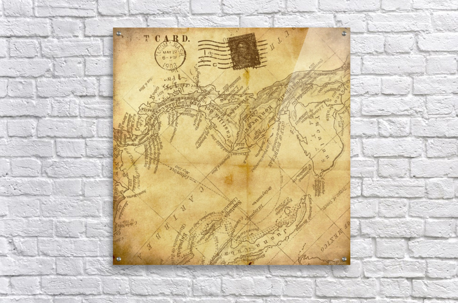 vintage map background paper  Acrylic Print