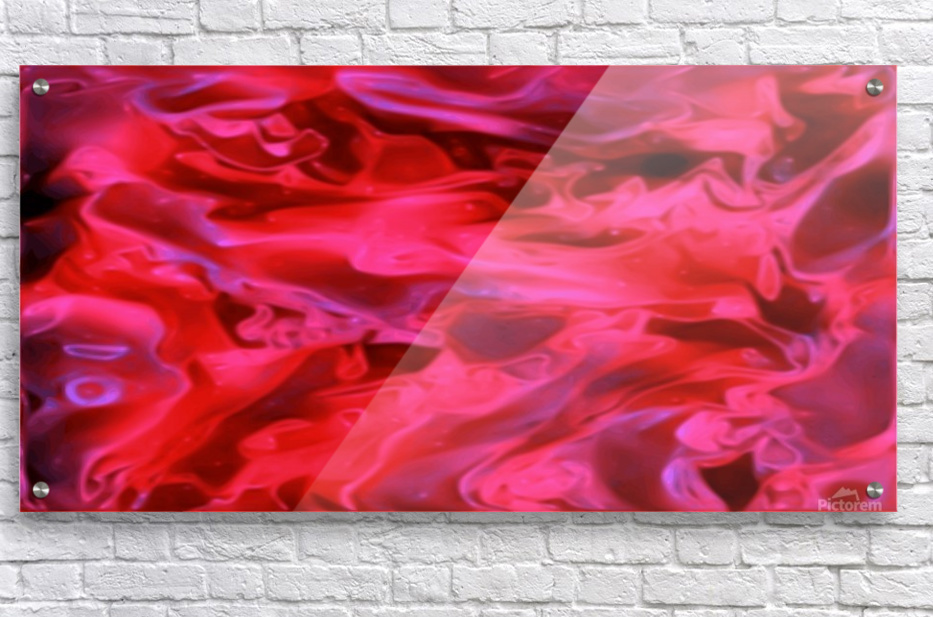 Red Field - violet black pink swirls abstract wall art  Acrylic Print