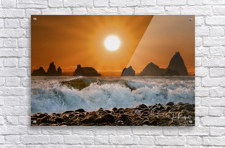 Sunset at Rialto Beach  Acrylic Print