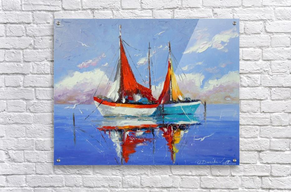 Sailboats in the sea  Acrylic Print