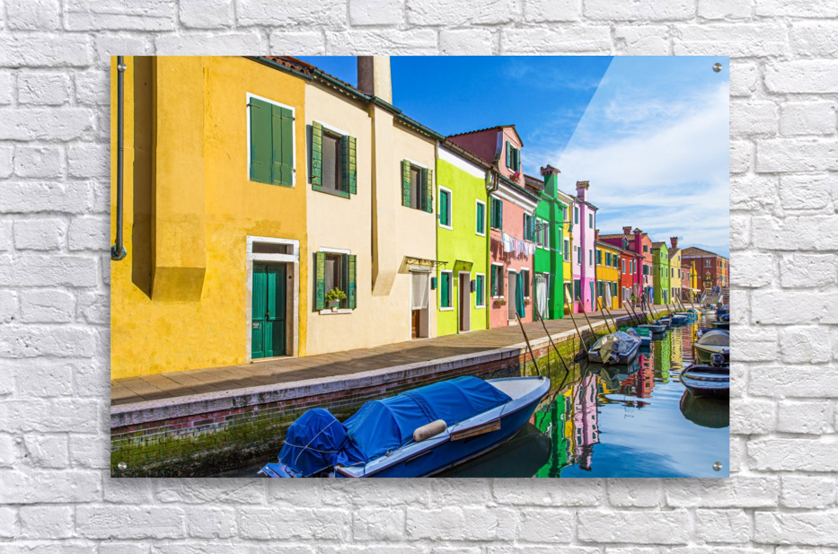Boats in Burano  Acrylic Print