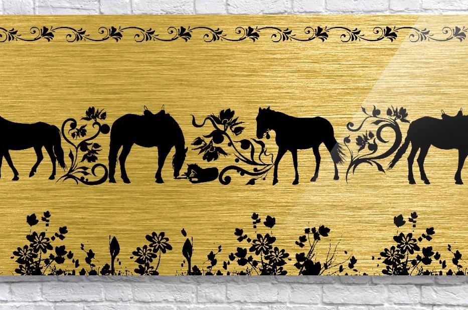 Gold illustration for interior decoration 2  Acrylic Print