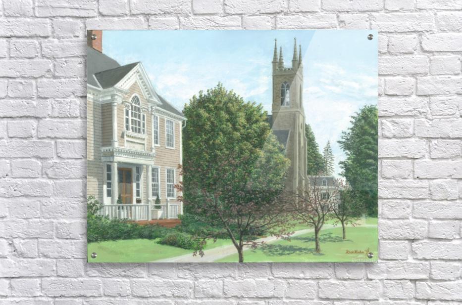 Main Street At Church Hill Road - Newtown Scenes 16X20  Acrylic Print