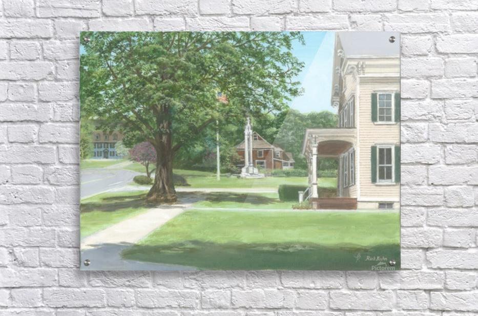 Main Street Monument - Newtown Scenes 16X16  Acrylic Print