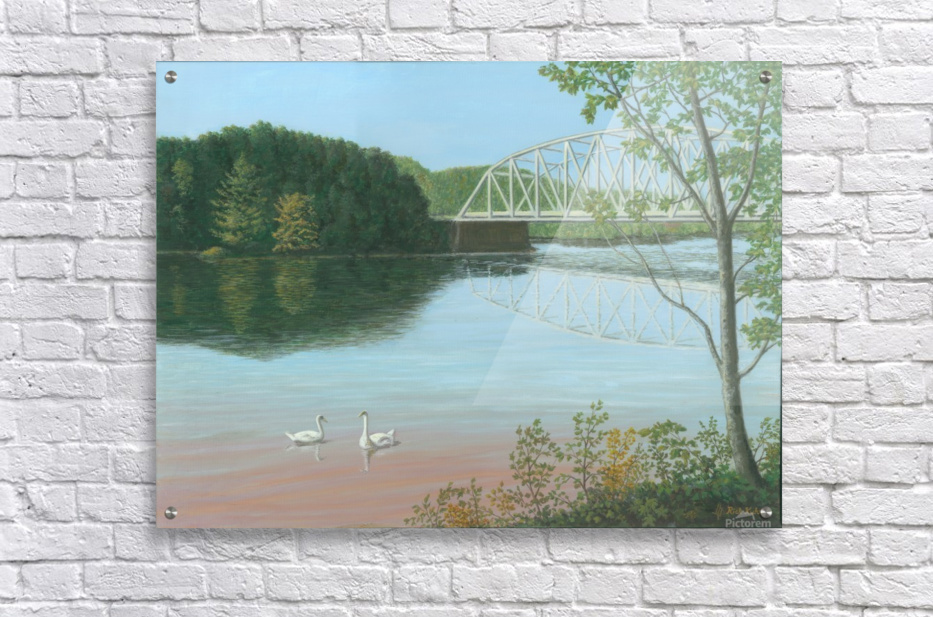 Silver Bridge - Newtown Scenes 18X24  Acrylic Print