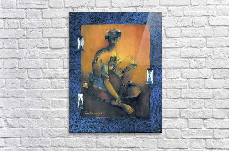 homme accroupi  Impression acrylique