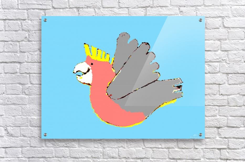 Happy Galah - Blue  Acrylic Print
