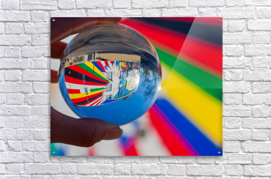 MKE Glass Ball Reflections  Acrylic Print