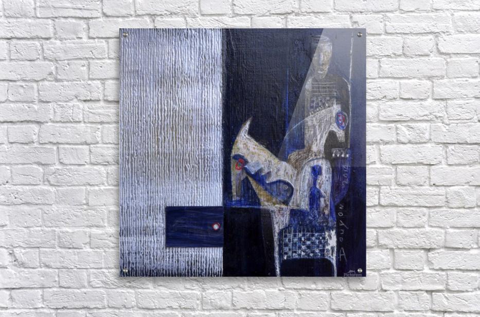 Blue Horserider 1  Impression acrylique