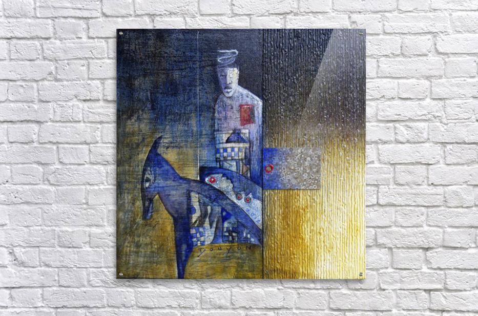 blue horserider 2  Acrylic Print