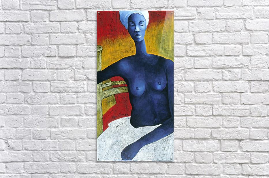 Blue Nude Woman  Impression acrylique