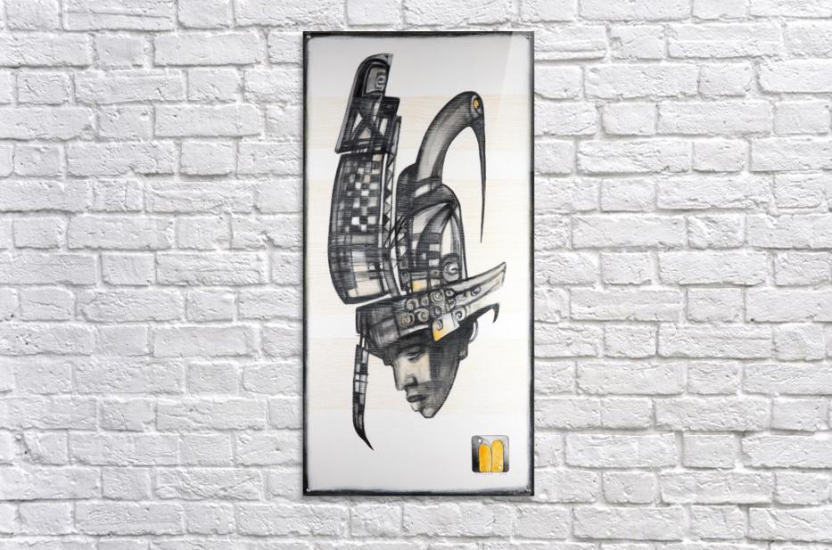 almost black white 6  Acrylic Print