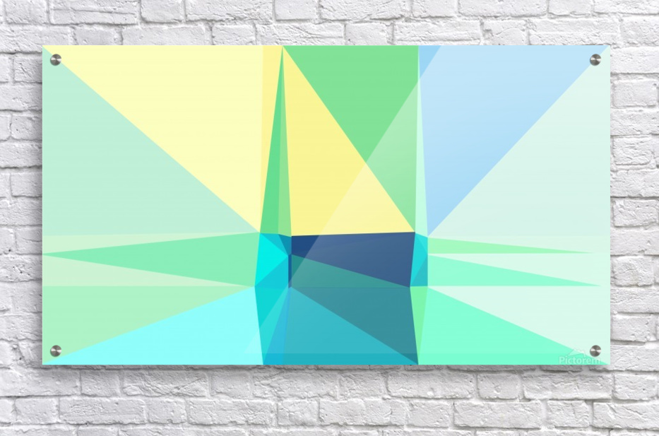 abstract colorful geometric shapes  Acrylic Print