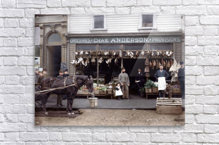 Chas Anderson Grocery Vancouver 1890s  Acrylic Print